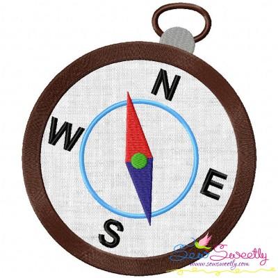 Pocket Compass Applique Design