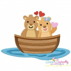 Love Boat Animal- Bears Embroidery Design