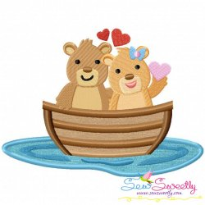 Love Boat Animal- Bears Applique Design