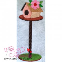 Bird House-2 Embroidery Design
