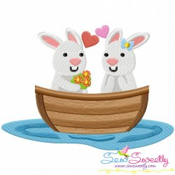 Love Boat Animal- Bunnies Embroidery Design