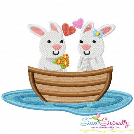 Love Boat Animal- Bunnies Applique Design