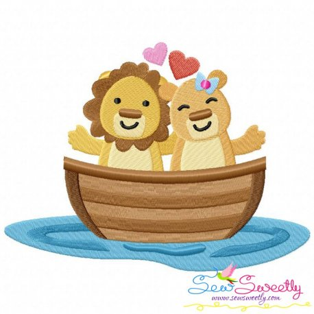 Love Boat Animal- Lions Embroidery Design