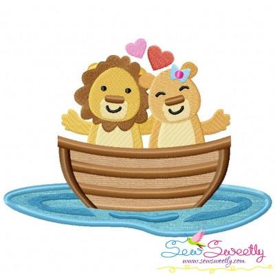 Love Boat Animal- Lions Applique Design