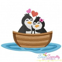 Love Boat Animal- Penguins Embroidery Design