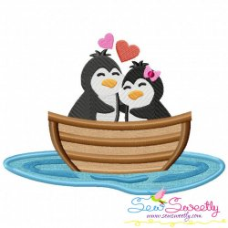 Love Boat Animal- Penguins Applique Design