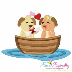 Love Boat Animal- Puppies Embroidery Design