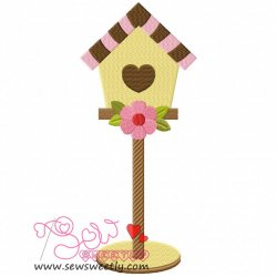 Bird House-1 Embroidery Design