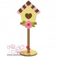 Bird House-1 Embroidery Design