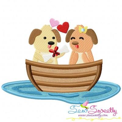 Love Boat Animal- Puppies Applique Design
