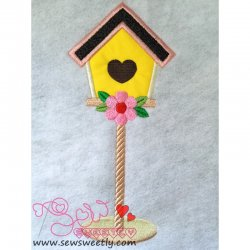 Bird House-1 Applique Design