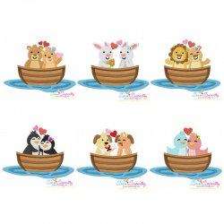 Love Boat Animals Embroidery Design Bundle