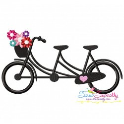 Valentine's Bicycle Embroidery Design