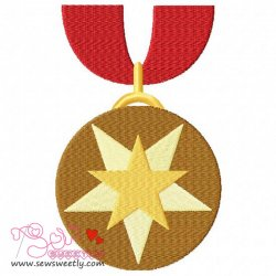 Army Medal 1 Embroidery Design