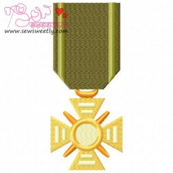 Army Medal 2 Embroidery Design