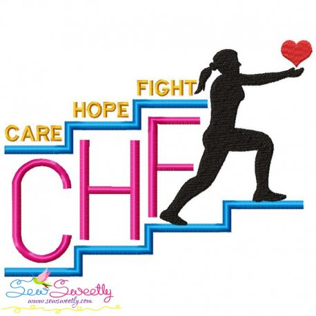 Free CHF Awareness Exclusive Embroidery Design