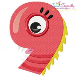 Monster Number-9 Embroidery Design