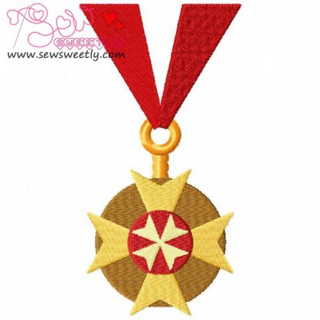 Army Medal 3 Embroidery Design