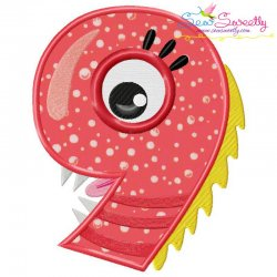 Monster Number-9 Applique Design