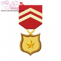 Army Medal 4 Embroidery Design
