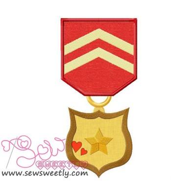 Army Medal 4 Applique Design
