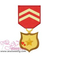 Army Medal 4 Applique Design