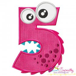Monster Number-5 Applique Design