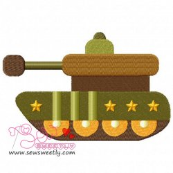 Army Tank-1 Embroidery Design