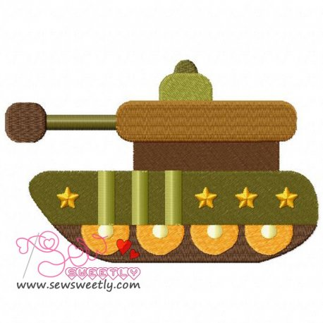 Army Tank-1 Embroidery Design Pattern- Category- War And Weapons Designs- 1