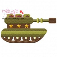 Army Tank-2 Embroidery Design