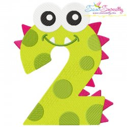 Monster Number-2 Embroidery Design