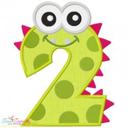 Monster Number-2 Applique Design