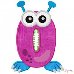 Monster Number-0 Applique Design