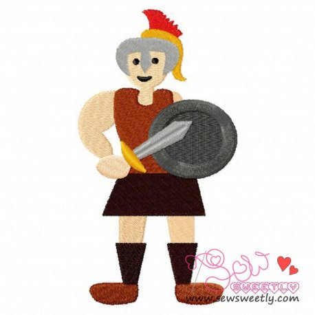 Gladiator-2 Embroidery Design