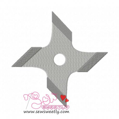 Shuriken-1 Embroidery Design
