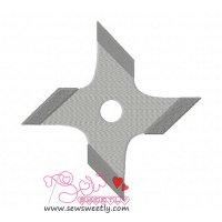 Shuriken-1 Embroidery Design