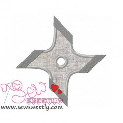 Shuriken-1 Applique Design
