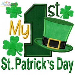 My 1st St. Patrick's Day Lettering Applique Design