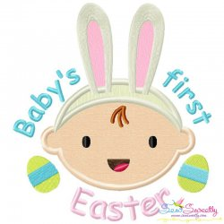 Baby's First Easter Lettering Applique Design