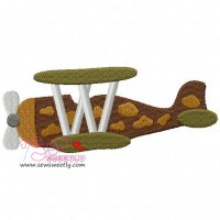 Classic Fighter Plane-2 Embroidery Design