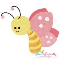 Pink Butterfly Embroidery Design