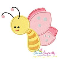 Pink Butterfly Applique Design