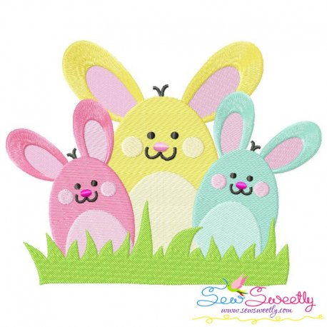 Bunny Bunch Machine Embroidery Design