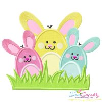 Bunny Bunch Applique Design