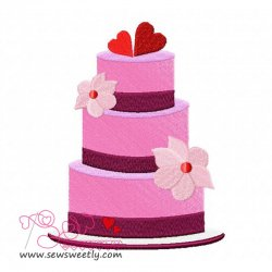 Wedding Cake Embroidery Design