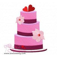 Wedding Cake Embroidery Design