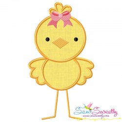 Girl Chick Applique Design