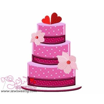 Wedding Cake Applique Design