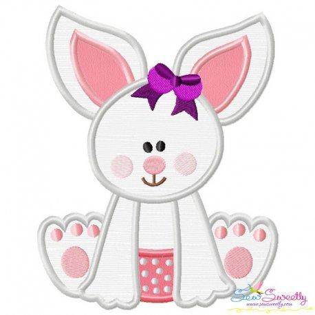 Baby Bunny Girl-2 Applique Design