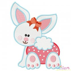 Baby Bunny Girl-1 Embroidery Design